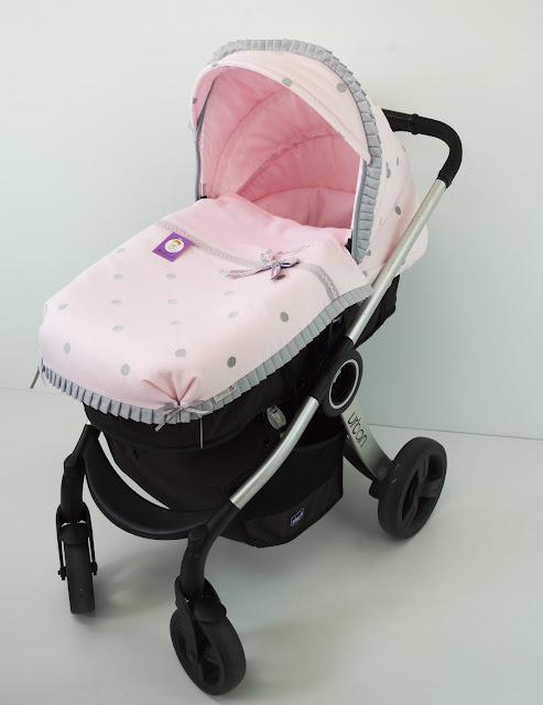 saco chicco urban rosa gris