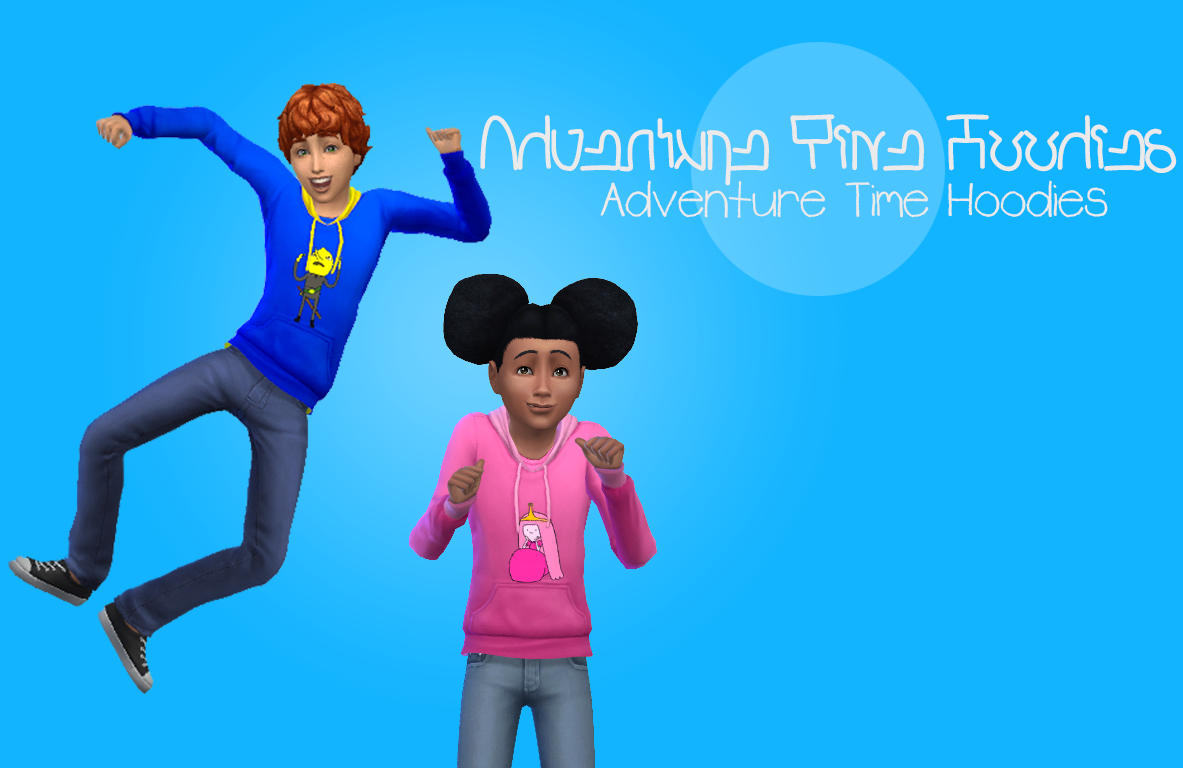 my sims 4 blog adventure time hoodies for kids by. Black Bedroom Furniture Sets. Home Design Ideas