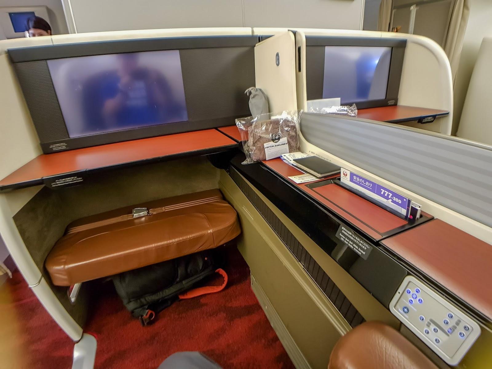 日本航空JL2: 東京羽田HND → 舊金山SFO 頭等艙飛行紀錄 (B777-300)