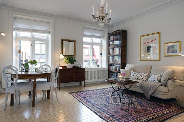 Noir blanc un style for Decoration living appartement