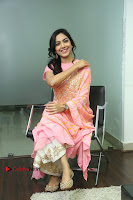 Actress Ritu Varma Pos in Beautiful Pink Anarkali Dress at at Keshava Movie Interview .COM 0219.JPG