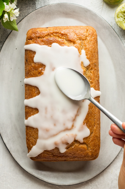 Vegan Coconut Lime Drizzle Cake