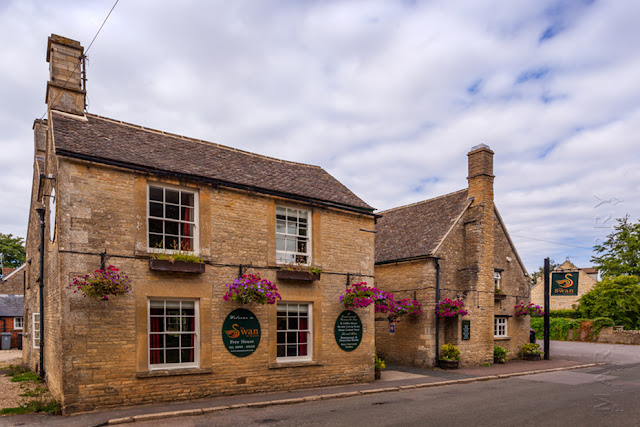 Traditional Cotswold pub The Swan at Ascott under Wychwood by Martyn Ferry Photography