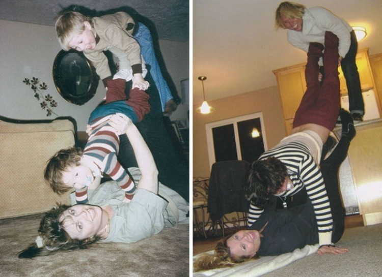 20 Hilarious Before And After Pictures Made By Adults Who Reminisced Their Childhood Years - That's something a bit hard to do if you're an adult.