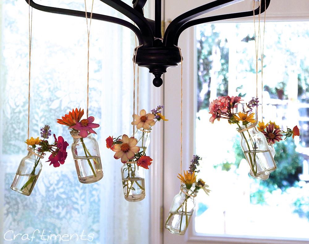 Craftiments Diy Hanging Chandelier Bud Vases