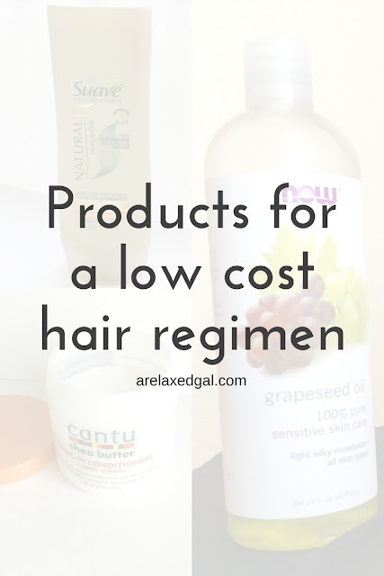 Just because you take good care of your relaxed hair doesn't mean you have to spend a lot of money. Check out my list of low cost hair care products. | arelaxedgal.com