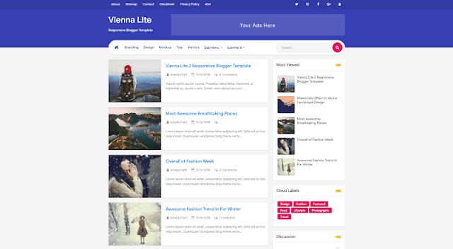 Vienna Lite 2 - Premium Blogger Template