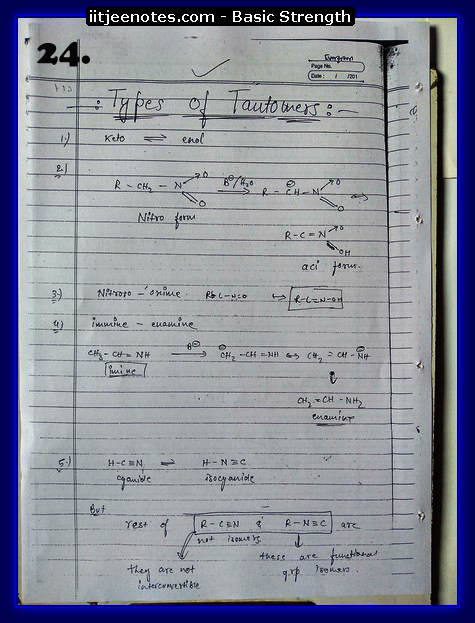 basic strength notes iitjee1