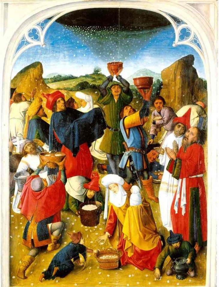 A, yahudilik, Manna, Tanrının yemeği, Mısır'dan Çıkış ve Manna, Tanrının cennetten yiyecek göndermesi, İsrail oğullarına manna gönderen, Mısır'dan Çıkış 16:1-36, din, Açıklanamayanlar,