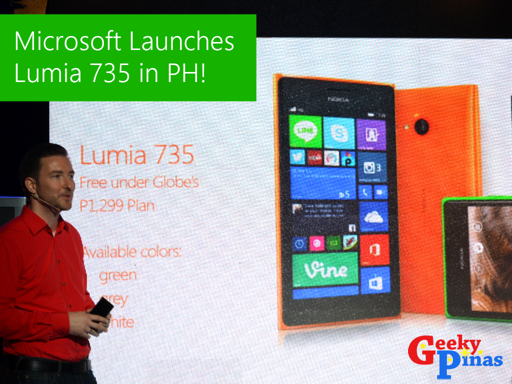 Microsoft Lumia 735 Officially Launches In The Philippines!