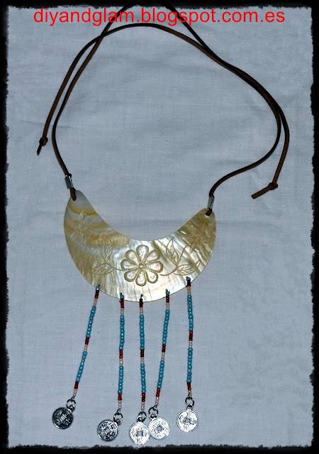 DIY collar de marfil
