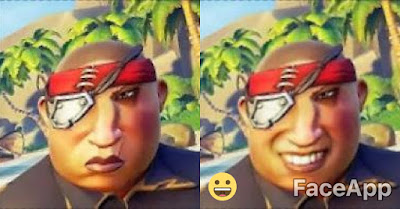 Sea of Thieves pirate ugly faceapp smile smiling teeth