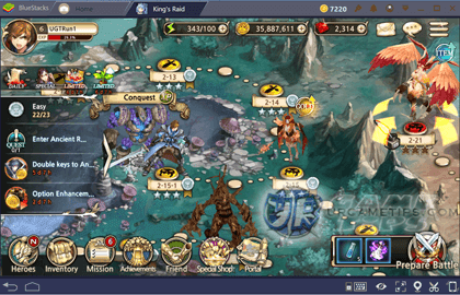 King's Raid Clear Chapters and Difficulties