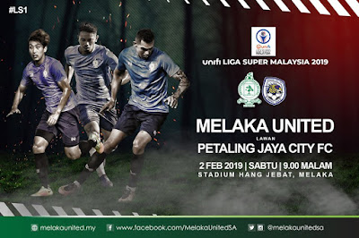Live Streaming Melaka United vs Petaling Jaya City