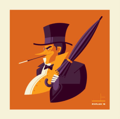 "Gallery 1988 presents ""Bust'd 2: Bust'd with a Vengeance"" Solo Art Show by Tom Whalen – The Penguin"