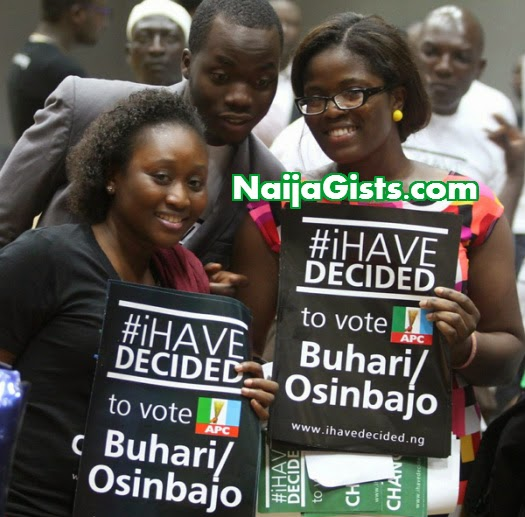 celebrities voting buhari osinbajo