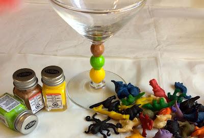 Testors paint glasware stem Stefanie Girard