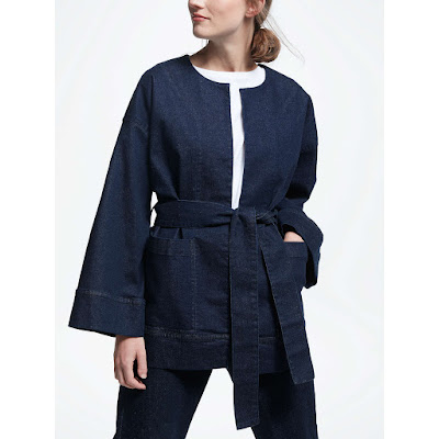kin by john lewis denim kimono jacket