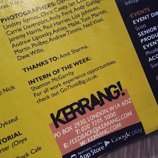 Kerrang Magazine Internship