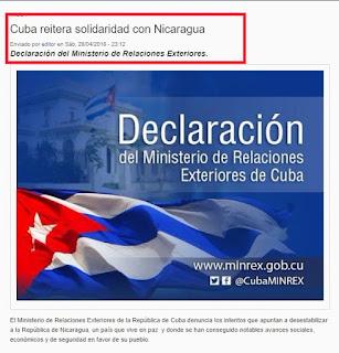 Blog Isla Mía solidaridad de Cuba con Nicaragua