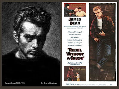 James Dean. 1931-1955. American Actor. Rebel Without a Cause. by Travis Simpkins