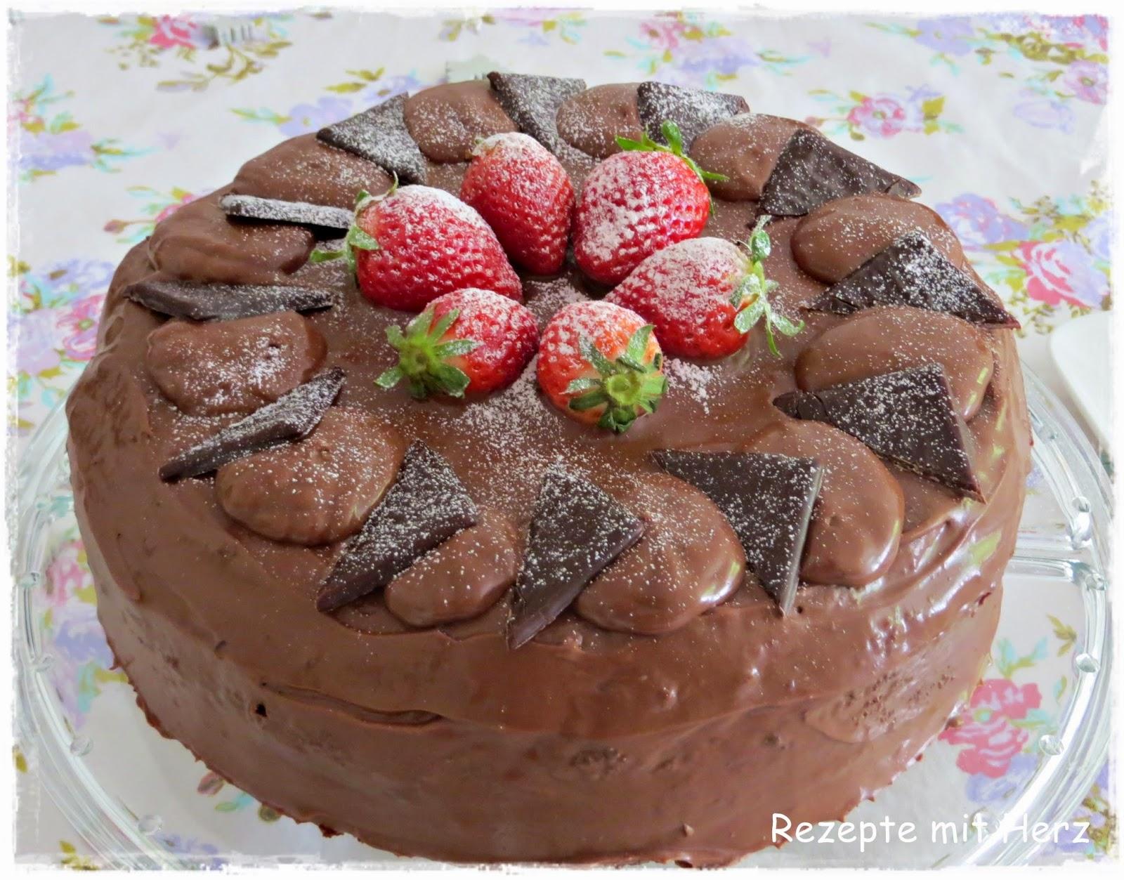 After Eight Torte Mit Erdbeer Joghurt Creme