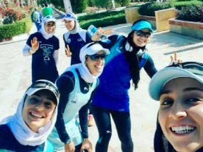 Iranian female rowing team in the Netherlands