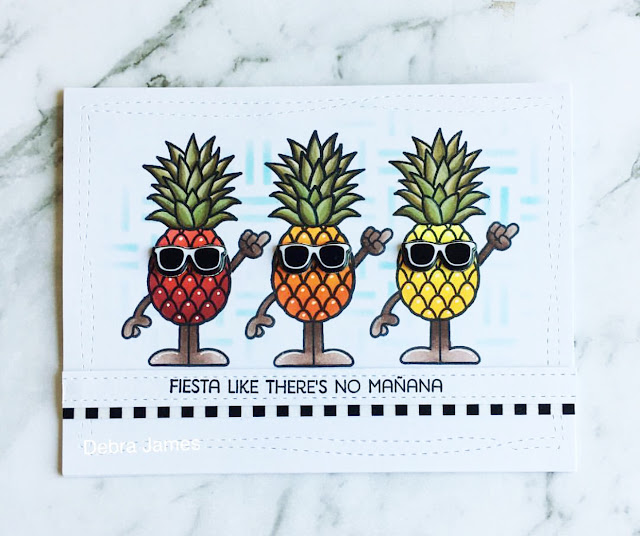 Sunny Studio Stamps: Summertime Tropical Paradise card by Debra James