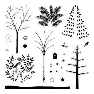 Fall trees CTMH stamp set