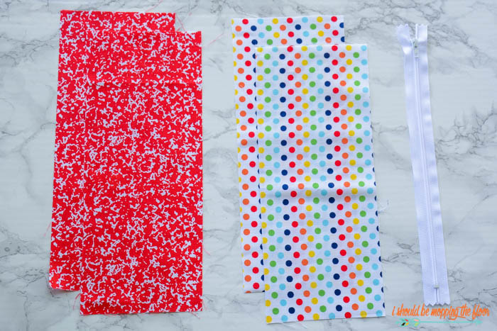 Fabrics for a Zippered Pouch