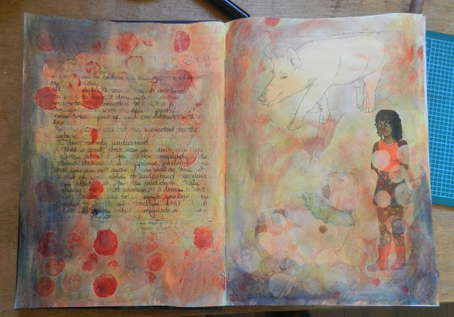 art journal spread background