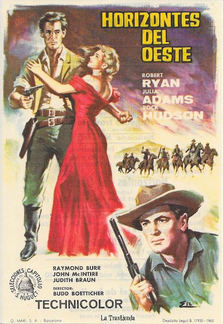 Programa de Cine - Horizontes del Oeste - Robert Ryan - Julia Adams - Rock Hudson