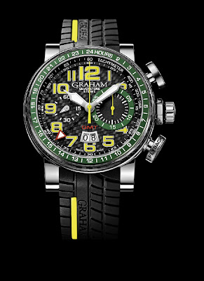 GRAHAM Silverstone Stowe GMT in Yellow & Green