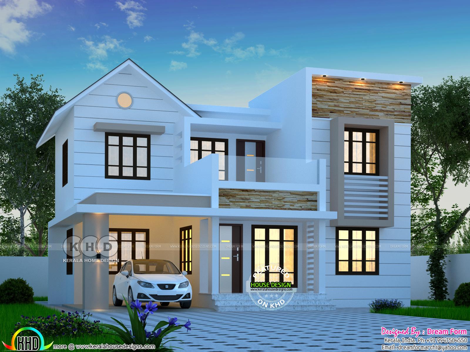 1644 Square Feet 4 Bedroom Modern House Plan Kerala
