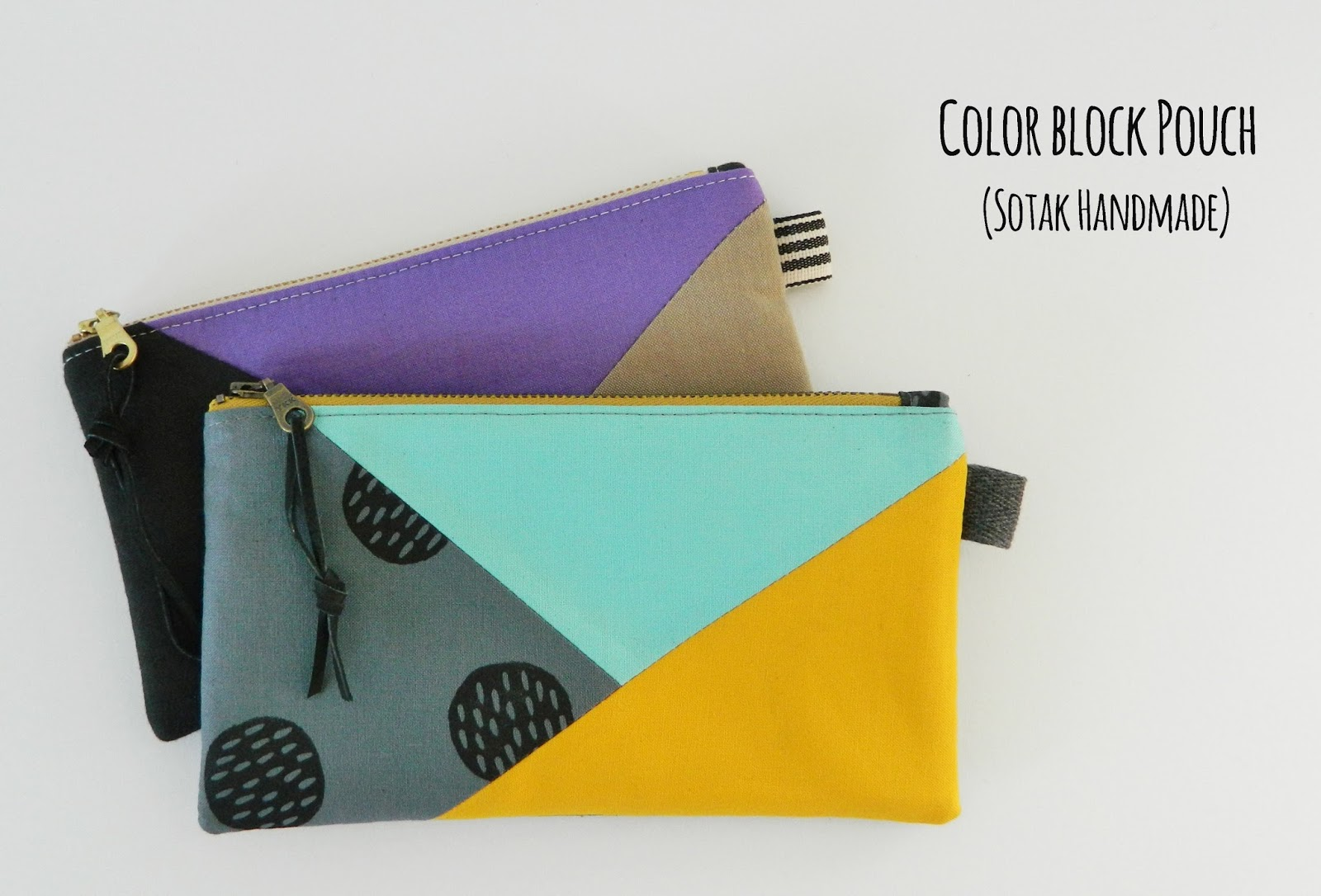 Color Block Pouch A Free Tutorial