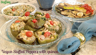 vegan chickpea stuffed peppers