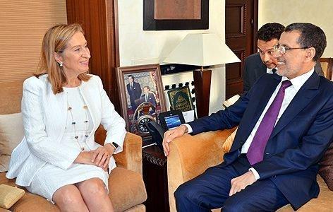 العثماني ورئيسة مجلس النواب الاسباني يشيدان بمستوى علاقات الصداقة وحسن الجوار التي تجمع المملكتين