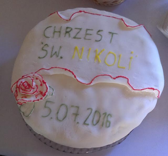 tort na chrzciny chrzest chrzestna chrzestny mama tata prezent na roczek słodki tort dobry tort przepis bardzo łatwy przepis na tort tani tort jak łatwo zrobić dla laika