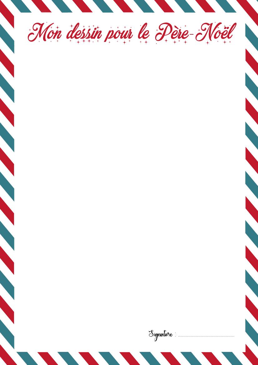 La Lettre Au Père Noël Et Son Enveloppe à Imprimer La Quiche Et