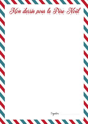 kit gratuit à imprimer dessin pere noel lettre liste cadeaux enfant facile