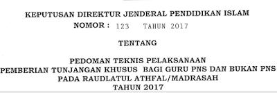 Juknis Tunjangan Khusus Guru (TKG) 2017