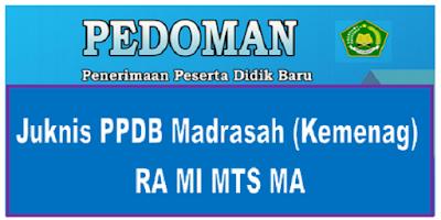 Juknis PPDB Madrasah 2019 (Kemenag) RA MI MTS MA