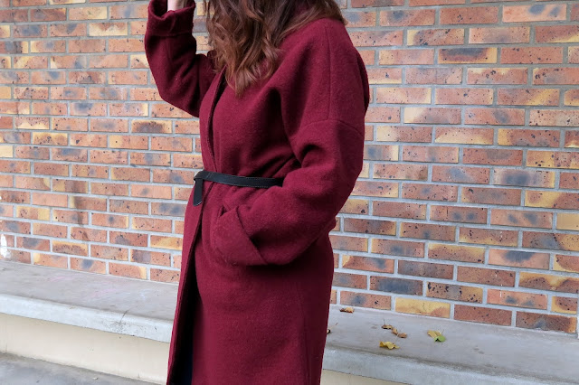manteau rouge, promod, le blog d'une tunisienne, blogueuse maghrébine, blogueuse tunisienne, tenue, outfit, hiver 2016, 2017,