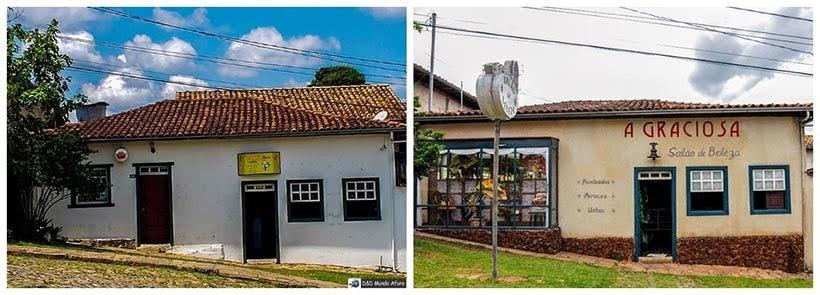 Comércio em Catas Altas e Salão de Beleza em São Miguel: minissérie Se Eu Fechar os Olhos Agora. Foto do cenário: Marilane Batista/Ascom