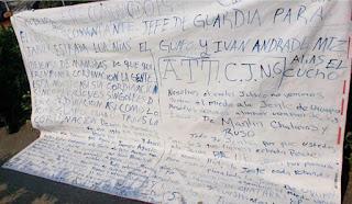 CJNG dejan narcomanta amenazando de colgar policías si no respetan sus ordenes en Uruapan, Michoacán