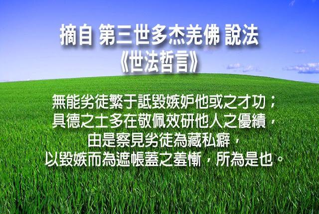 第三世多杰羌佛說《世法哲言》(三十九)