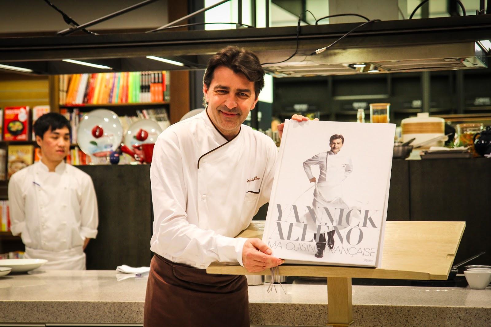 美食家的自學之路: 【飲食新聞】米其林三星名廚雅尼克.亞蘭諾Yannick Alléno來臺舉辦新書發表會