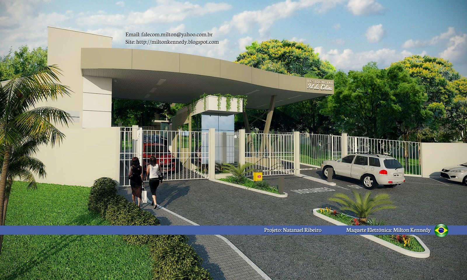 Reforma entrada do Residencial Jardim da Colina Alfenas