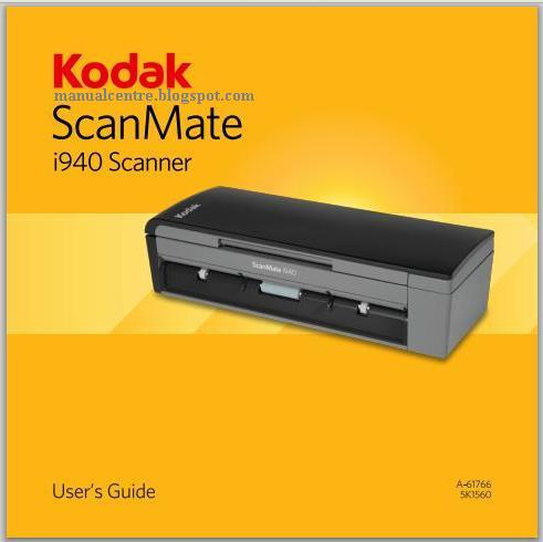 Kodak Scanmate i940 Manual Cover
