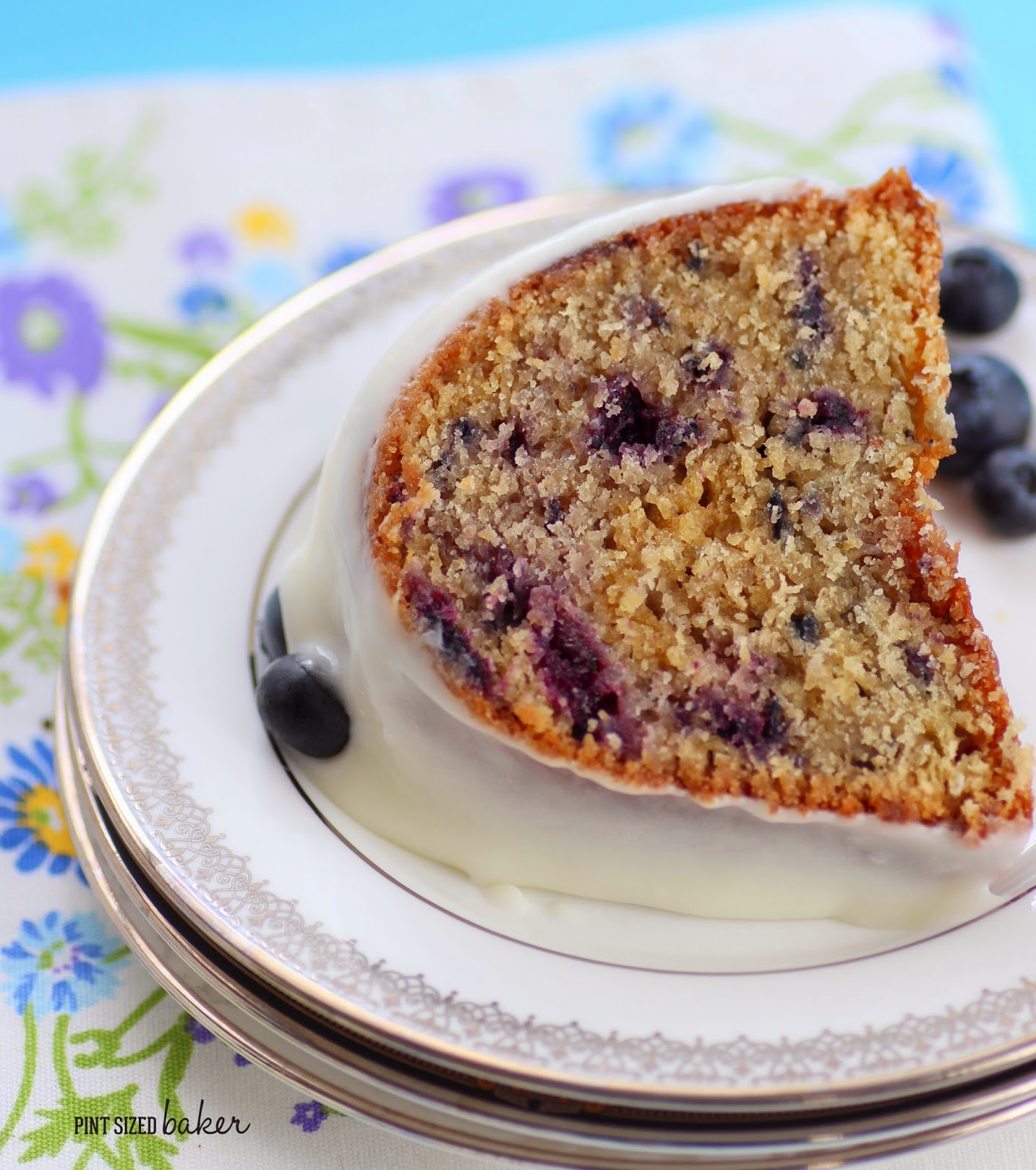 The best Blueberry Marble Cake ever! You've gotta make this!